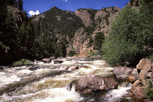 Poudre River tumbles through the Narrows