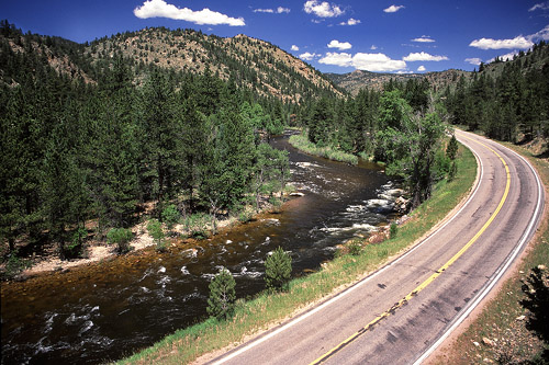Highway 14 runs along the Poudre River for close to 40 miles