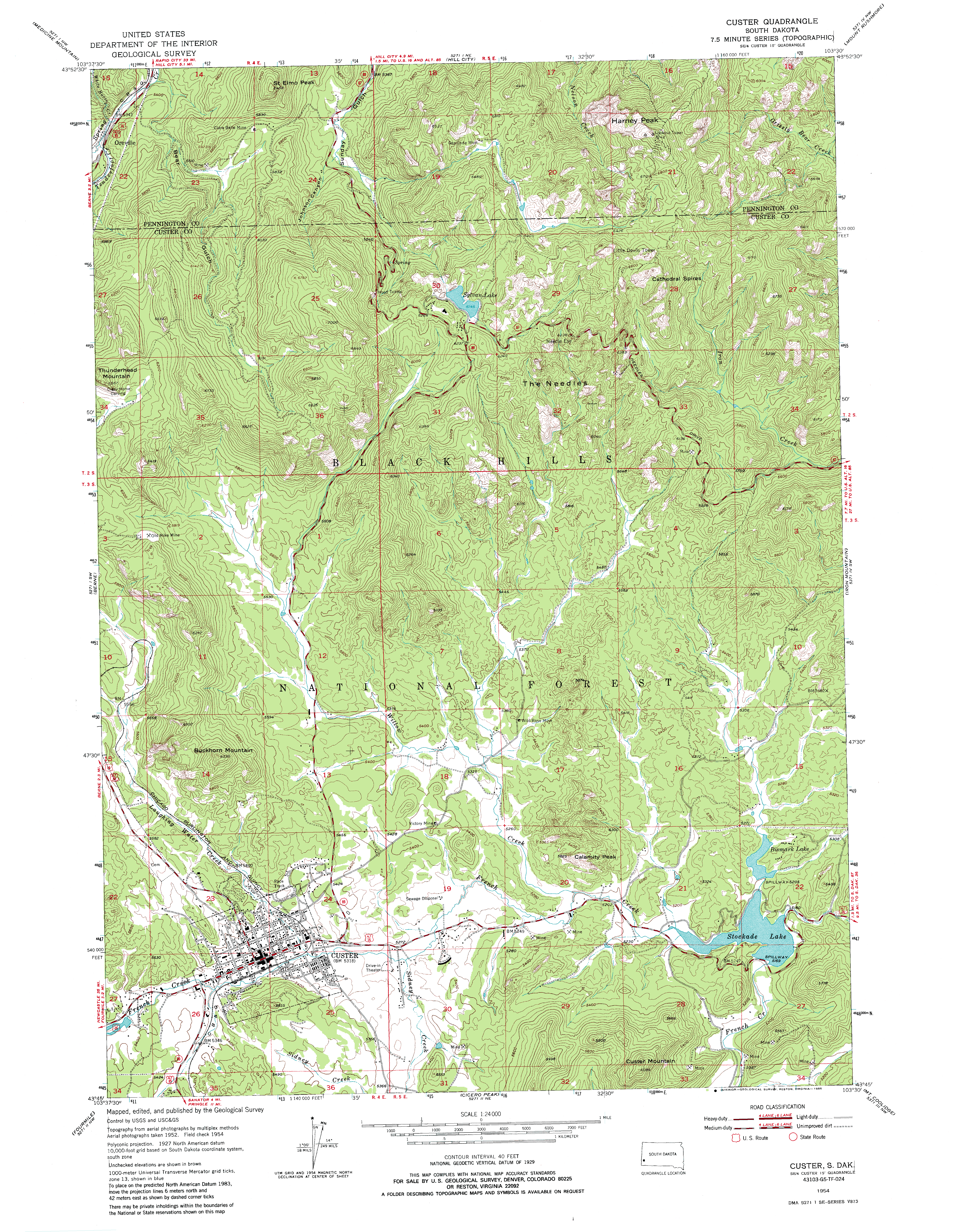 Hiking Cathedral Spires In The Black Hills South Dakota - Usgs quad maps