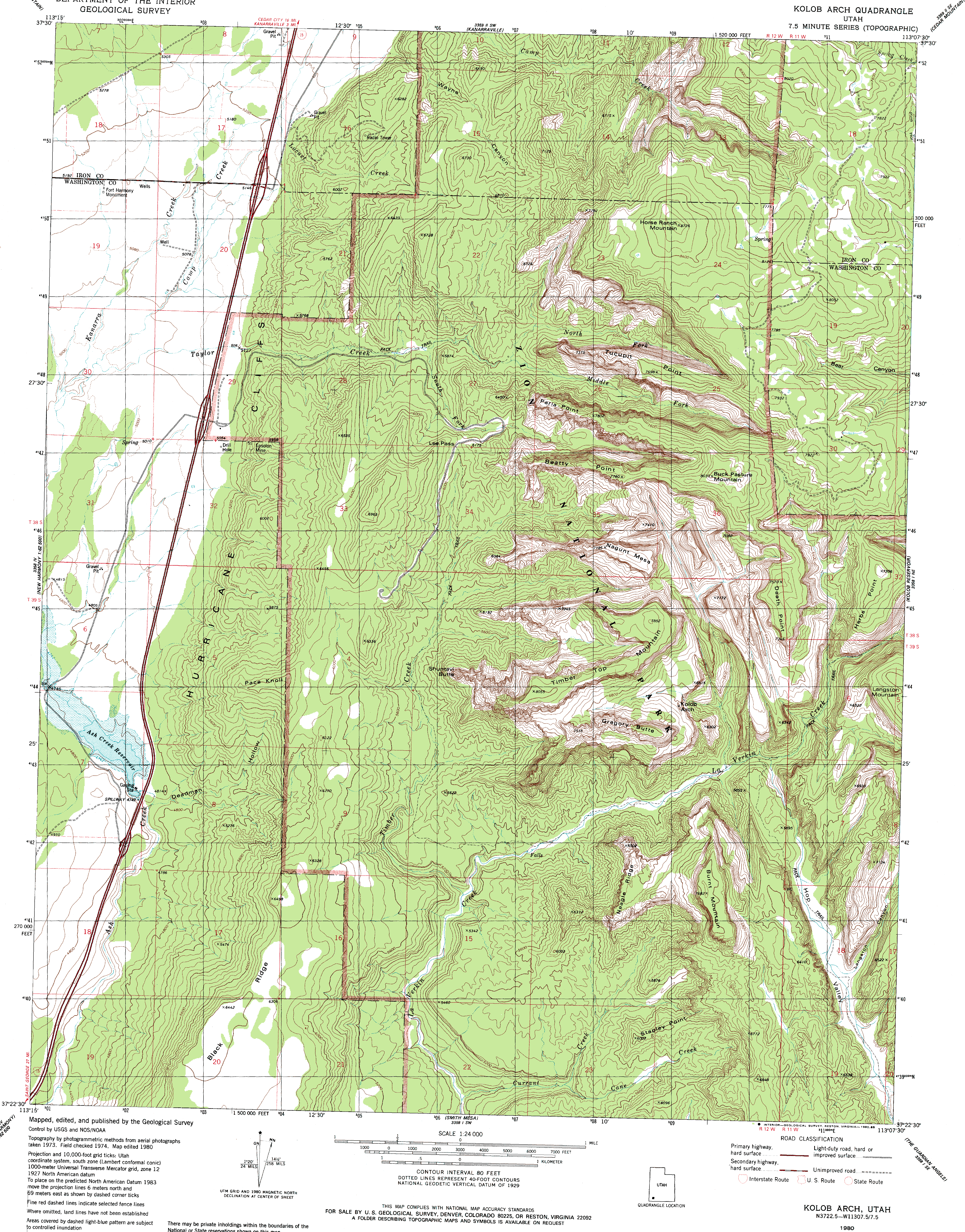 Map Trails Ilrated 214 Zion Makes A Good Overview Map But It S Scale Of 1 38 000 Makes The Usgs