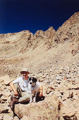 Frank and I hangin' out above treeline