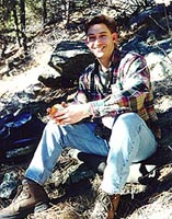 Sam Cox on the Young's Gulch trail, 1998