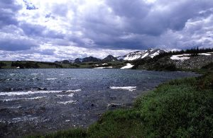 High winds and brooding clouds at Telephone Lake