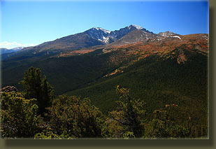 Longs Peak from the summit of Estes Cone