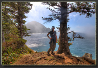 Hiking Falcon Cove in Oswald West State Park, OR