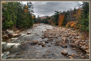 Franconia Falls and Lincoln Woods Trail, New Hampshire