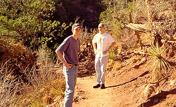 Dave and Matt at Garden of the Gods, 1997