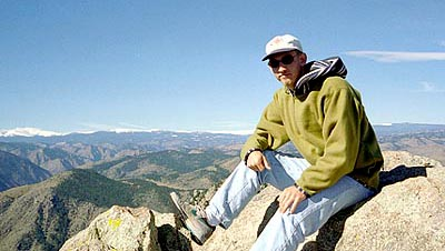 Me on top of Grey Rock. September, 1996.