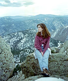 Andra on Grey Rock. March, 1997.