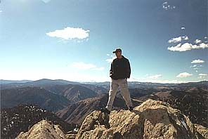 Dave at the top of Grey Rock. March 2001