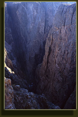 Steep walls in Black Canyon