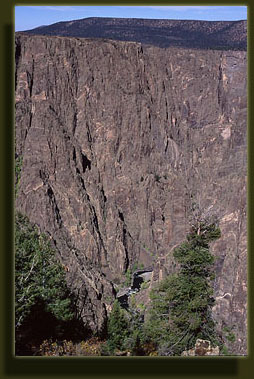 One of the steeper walls in the Black Canyon