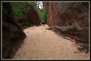 Easy walking in Hidden Canyon