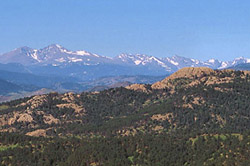 Horsetooth Rock and Longs Peak