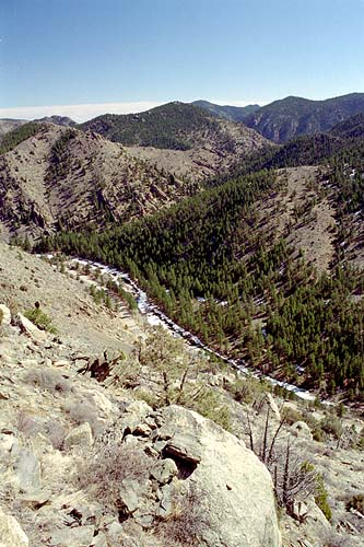 Poudre Canyon, east of Mt McConnel