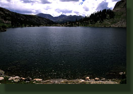 Mirror Lake with Desolation Peaks on the horizon