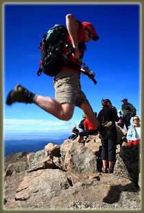 Mt Bierstadt Air Guitar (part of the summit dance)