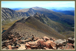 View from Mt Bierstadt