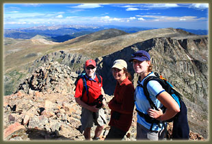 Mike, Andra and Christine on Mt Bierstadt