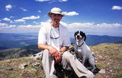 Frank and I at lunch on Fairview Mt