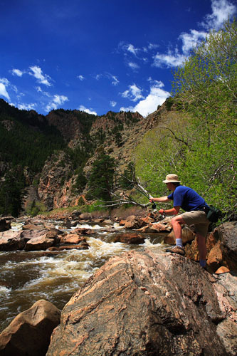 flyfishing on the Poudre River