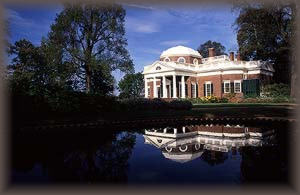 Monticello, Thomas Jefferson's mansion in nearby Charlottesville.